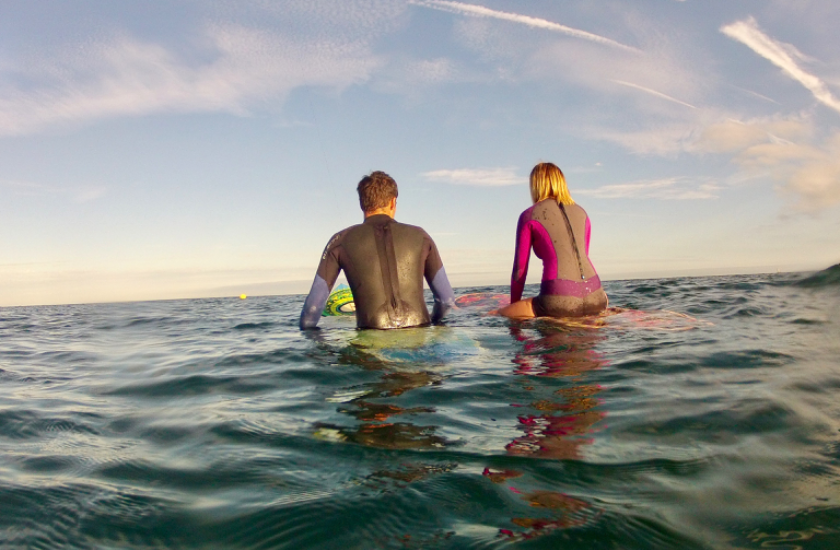 Surfing with Paige Pattinson