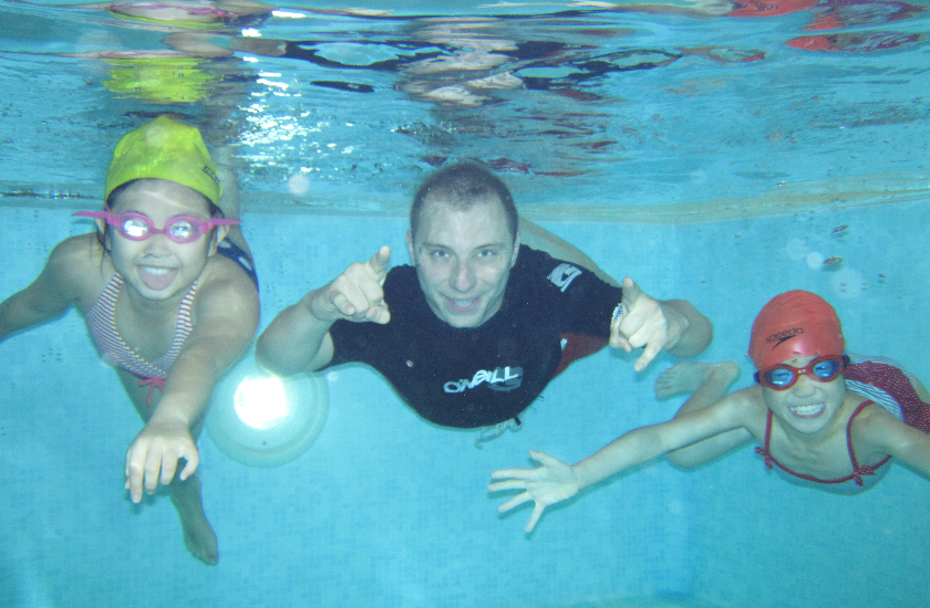 Swimming with Csaba Vinkler